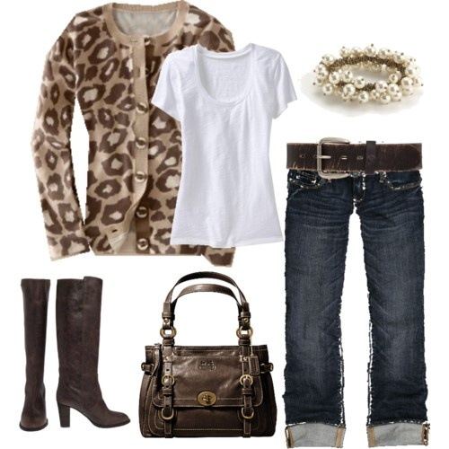 very cute!Sweaters, Fashion, Style, Clothing, Outfit, Leopards Prints, Animal Prints, Leopard Prints, Boots