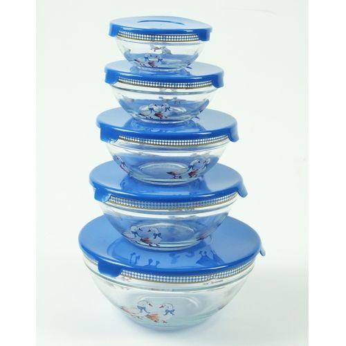 Bols en verre gigognes bleu (lot de 5)