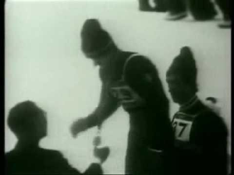 A sensational jump from 1972 Sapporo Olympic Games. Wojciech Fortuna