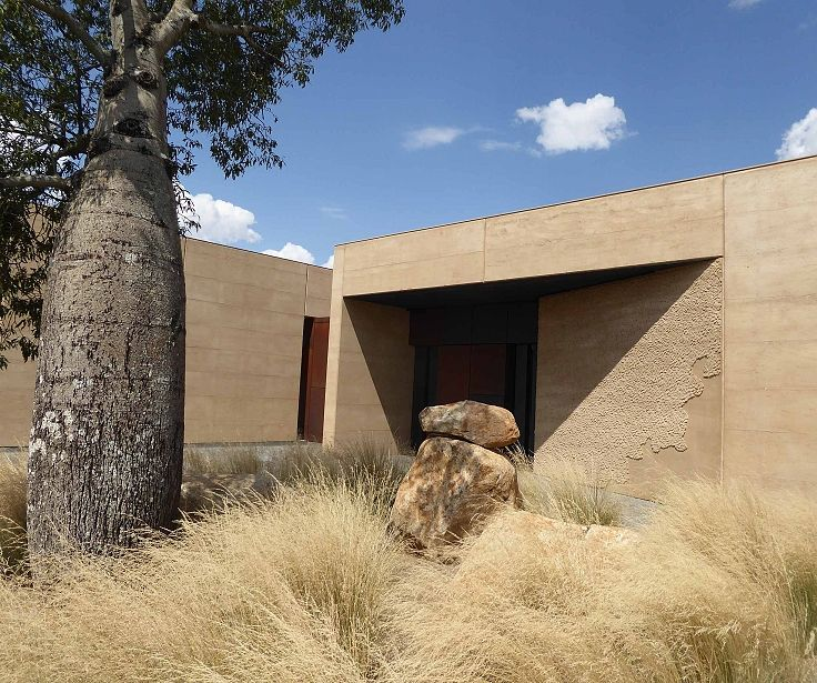 Garangula Art Gallery - now the landscaping has settled in and the grasses have grown. Love the contrasts.