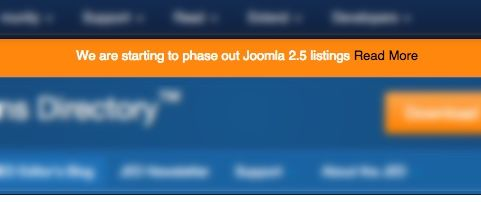 Joomla 2.5 Support Ending