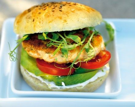 Recipe, salmonburger with lchf-bread
