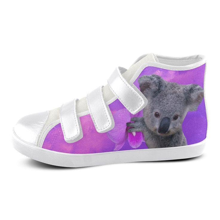 Koala Velcro High Top Canvas Kid's Shoes