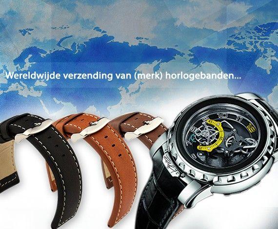Horlogebanden, (leren, metalen, kunststof, klittenband) horlogebandjes, horlogegereedschap en meer!