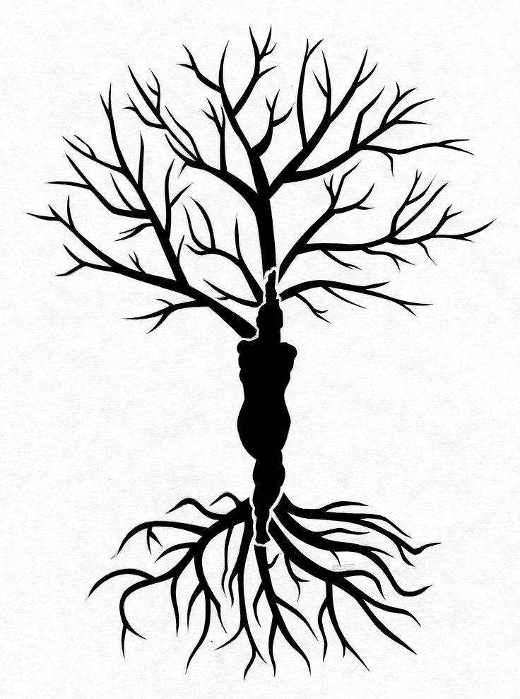 Yoga Eagle pose Tree of Life stencil I designed for Helen :)