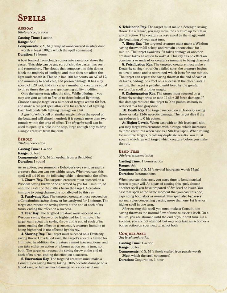 Dnd 5e Bard Spell List Pdf - Tabletop – Page 3 – Talking Nerdy