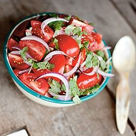 Tomatsallad med koriander