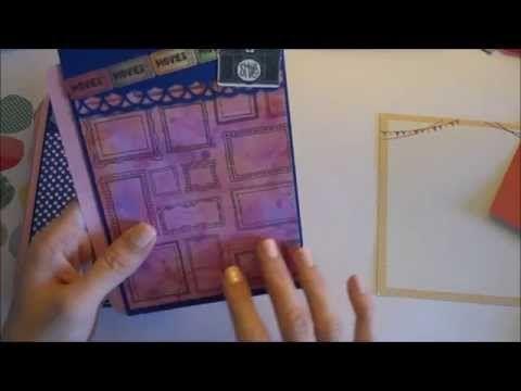 Мини альбом из конвертов, часть 1 - Скрапбукинг мастер-класс / Aida Handmade - YouTube