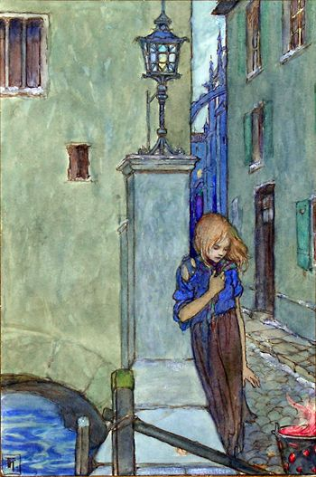 Art by Florence Harrison. Florence 1877-1955, was an English Art Nouveau and Pre Raphaelite Illustrator of Children's books and poetry.