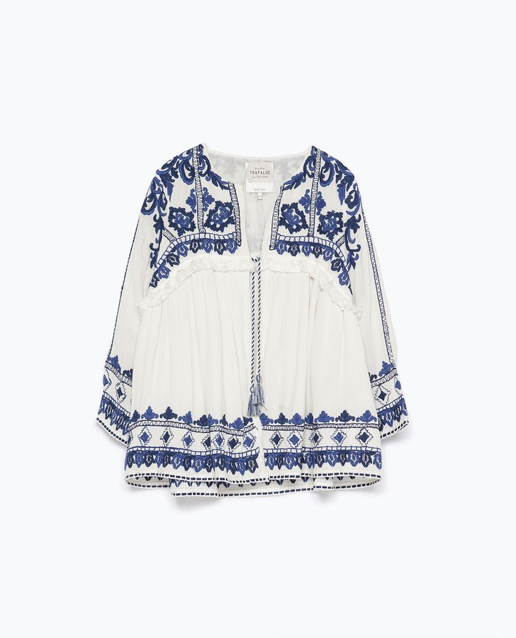 Embroidered jacket trf new this week zara united