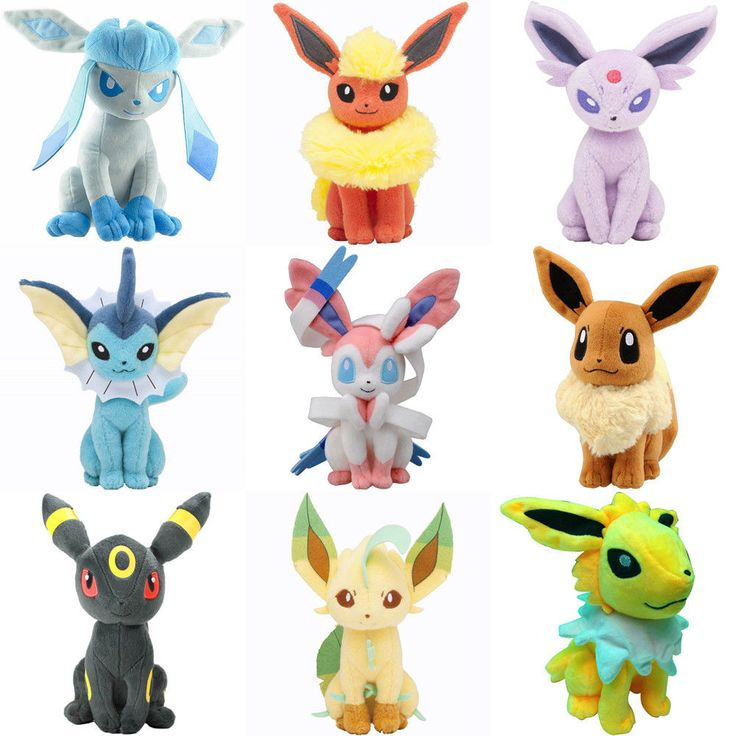 Pokemon Pikachu Evolution of Eevee Plush doll Toy Eeveelution set 8 pcs 13