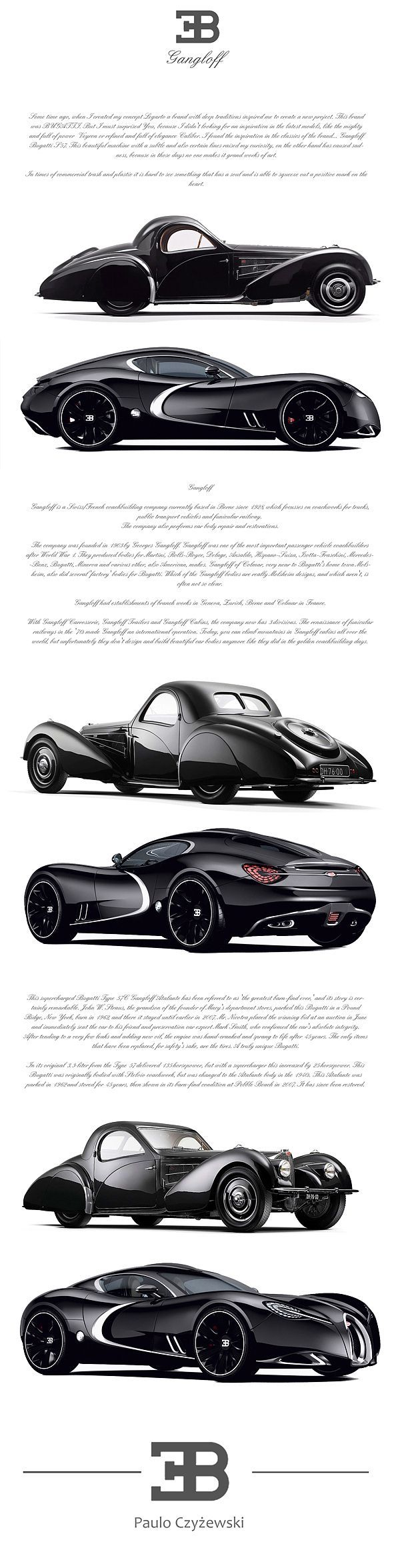 BUGATTI GANGLOFF CONCEPT CAR , INVISIUM By Paweł Czyżewski. My Dream, As A  Future
