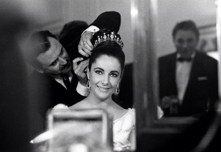 Almost ready, darling ...   Elizabeth Taylor, Cannes 1963