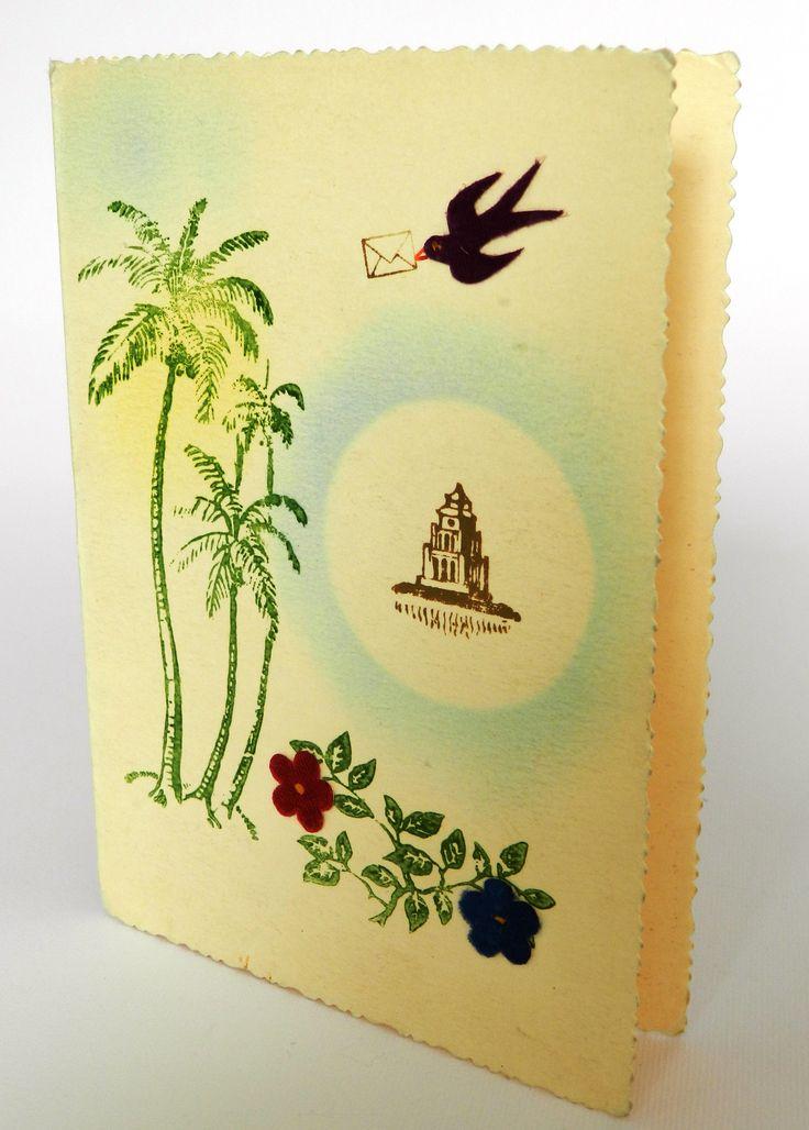 Vintage Vietnamese card.