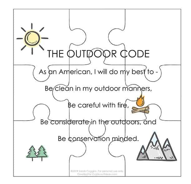 picture relating to Outdoor Code Printable known as How towards Produce a Cub Scout Outside Code Puzzle