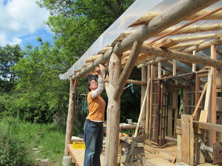 Round Wood Timber Framing Natural Building Wood