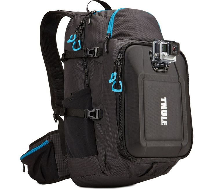 THULE  Legend TLGB101 GoPro Backpack - Black, Black Price: £ 99.99 Carry up to three GoPro camcorders in the Thule Legend TLGB101 GoPro Backpack , which includes integrated GoPro mounts and a range of great storage features. Ready for action In its crushproof, padded camera compartment, the Thule GoPro Backpack offers a die-cut foam pad purpose-made to keep your GoPro cameras neat and...