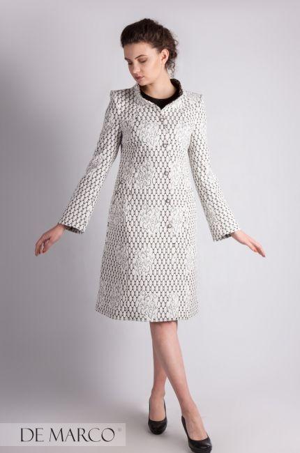 19a111cadc Elegancki płaszczyk wizytowy szyty na miarę w De Marco 😊👍❤❤  szycie   wesele  sukienka  businesswoman  o…