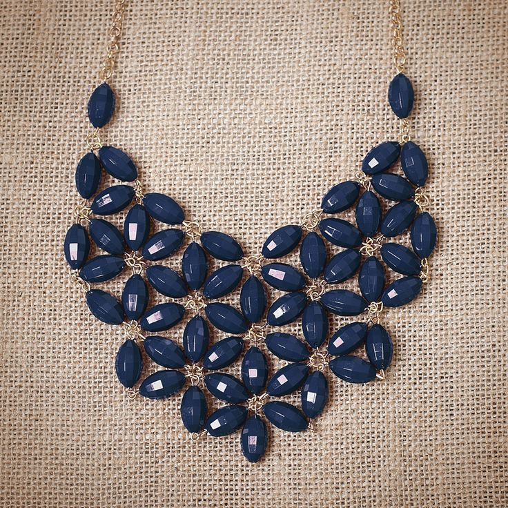 Urban Peach Boutique | Navy Tessellate Necklace