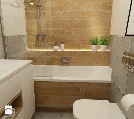 mieszkanie jasne w stylu nowoczesnym/skandynawskim 60m2 - Mała łazienka w bloku bez okna, styl nowoczesny - zdjęcie od Grafika i Projekt architektura wnętrz
