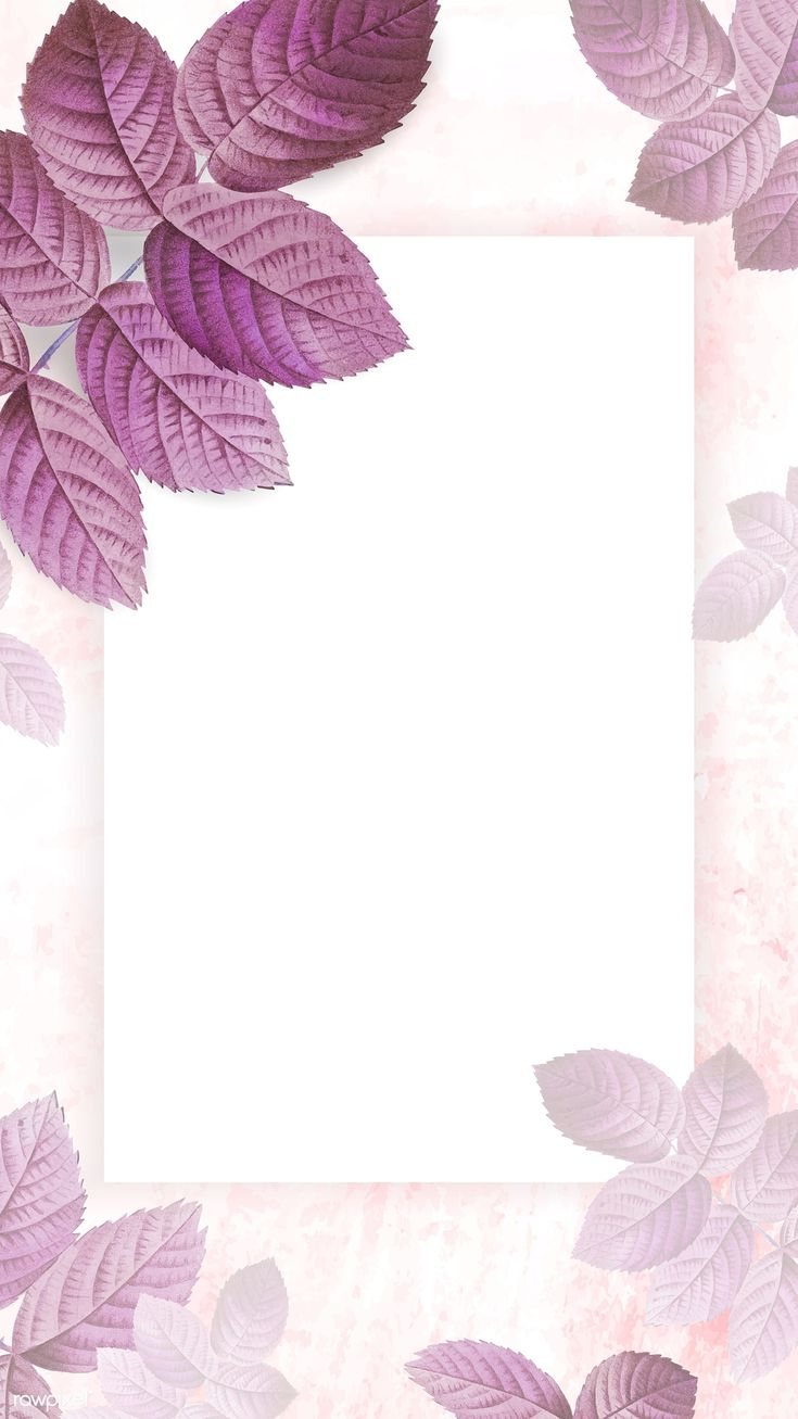 Purple foliage pattern mobile phone wallpaper | premium image by rawpixel.com / …