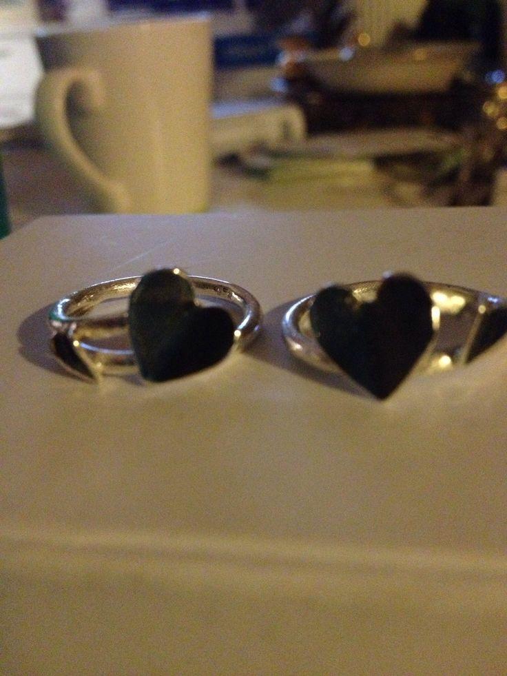 Veninde ringe i sølv