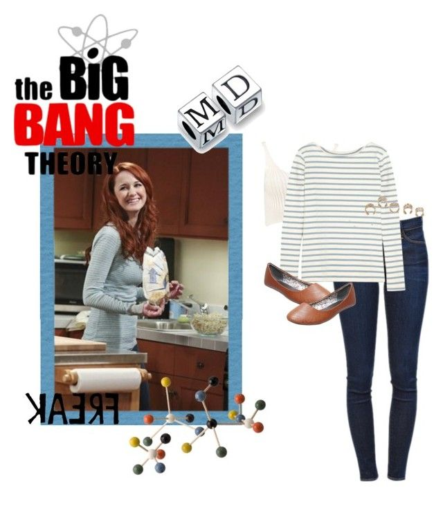 """The Big Bang Theory: Emily Sweeney"" by spinosaurus ❤ liked on Polyvore featuring ferm LIVING, Bling Jewelry, Frame Denim, Boohoo, MiH Jeans, Wet Seal and Bernard Delettrez"
