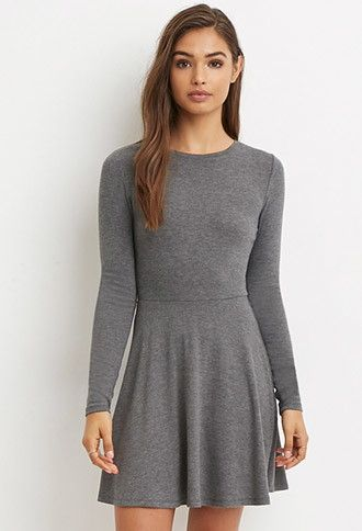 Forever 21 long sleeve black dress with lace back