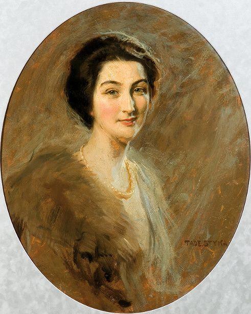 "Countess Lucien Lepic by Polish painter Tadeusz ""Tade"" Styka"