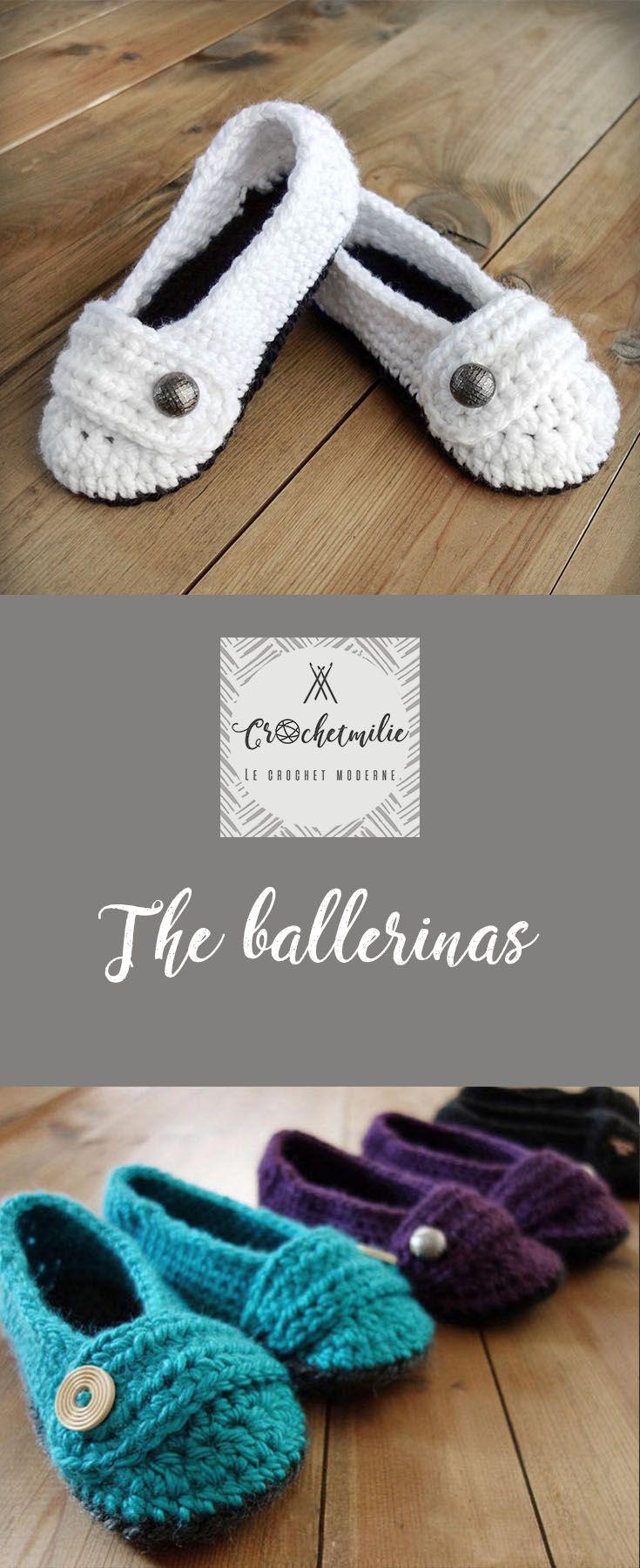 The ballerinas - Cute women slippers by CROCHETMILIE