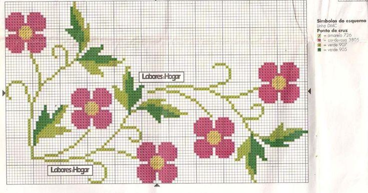 Olá !! O post de gráficos de ponto cruz de hoje é de florzinhas ... muitas florzinhas ... Bjs