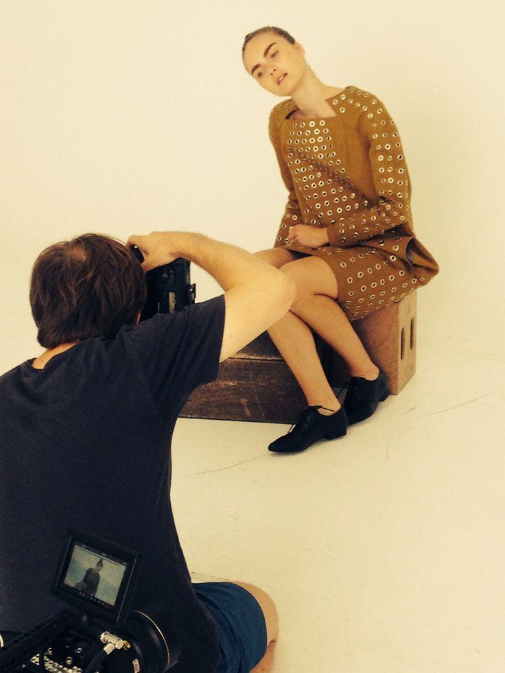 Showpiece. Dress with grommets. Exam collection Fronting. Fashion design Akademiet. Copenhagen. Denmark.