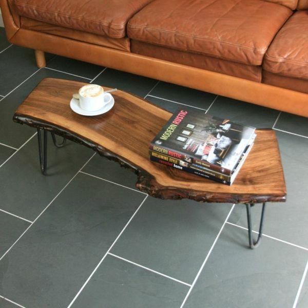 wohnzimmertische rund:Hairpin Leg Coffee Table Walnut