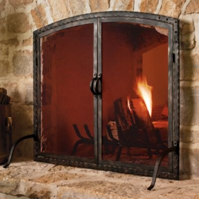 essex forged fireplace screen comes in oversized oversized