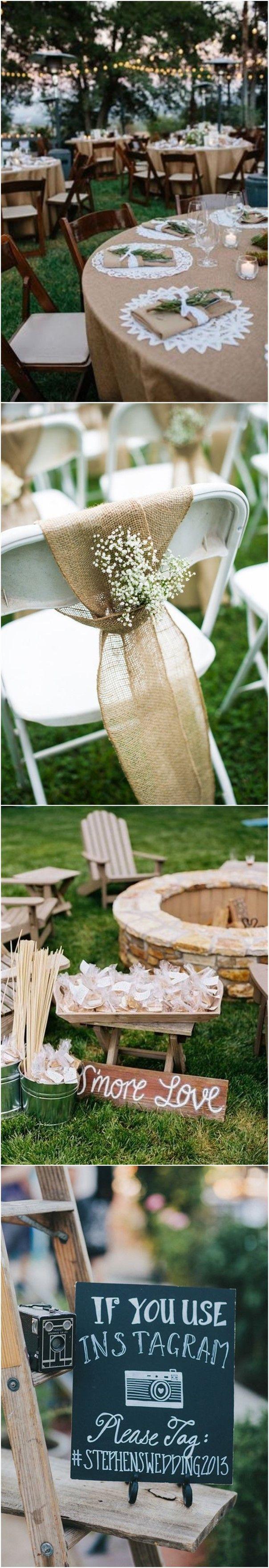 Wedding Decorations » 22 Rustic Backyard Wedding Decoration Ideas on A Budget » ❤️ More: http://www.weddinginclude.com/2017/08/rustic-backyard-wedding-decoration-ideas-on-a-budget/