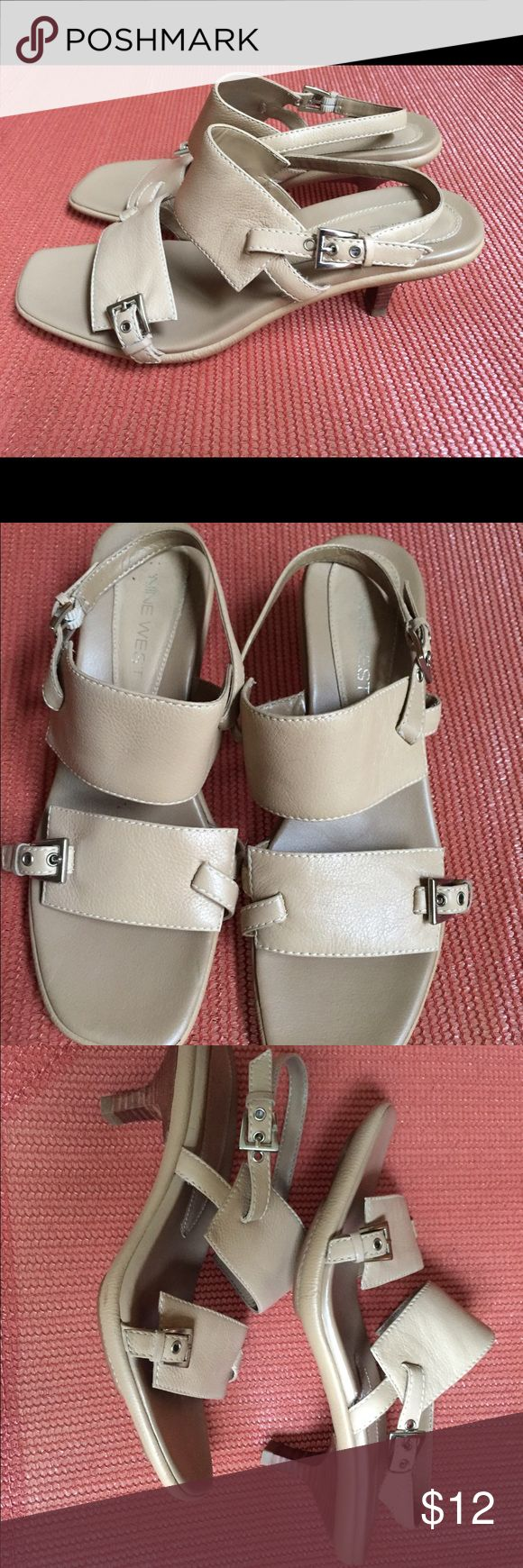 Nine West size 8 taupe color sandals.  Very comfy! Perfect neutral sandals to pair up with just about any outfit.  Size 8. Very comfy!  Great condition. Nine West Shoes Sandals