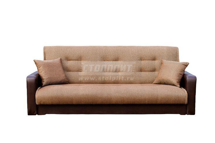 Диван Стрит рогожка микс коричневый/экокожа с подушками купить со скидкой 17 % в интернет магазине с доставкой в Волгоград и сборкой в интернет-магазине Столплит