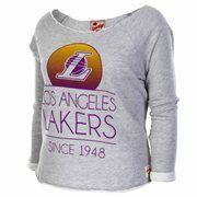 Sportiqe Los Angeles Lakers Women's Andrews Boatneck Sweatshirt - Ash