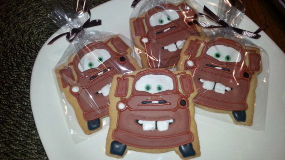 Tow Mater Cookies by PetesCustomCookies on Etsy