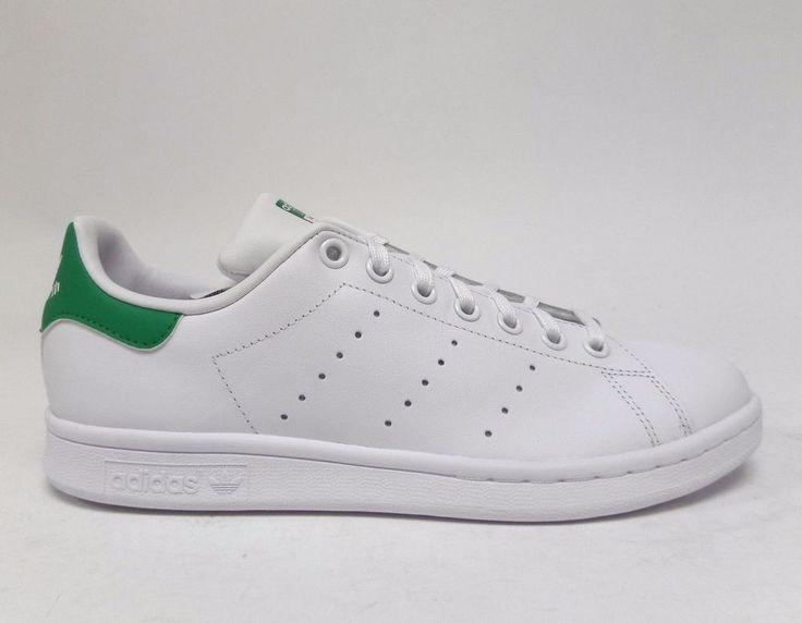 Adidas Kids' STAN SMITH J Shoes White/Green M20605 | eBay