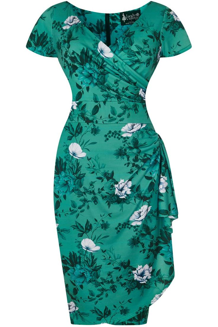 The Elsie Dress is a popular style, with its cross over bust and V neckline, capped sleeves and...