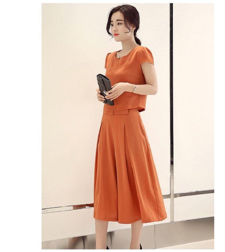 16 Женский костюм моды лета новый корейский короткими рукавами футболки рубашки брюки широкие брюки ноги брюки прилив кусок истинной -tmall.com Lynx