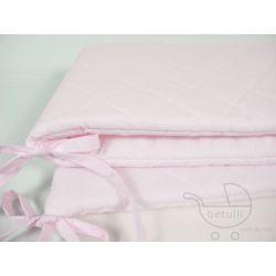 Ochraniacz do łóżeczka, Pikowany, Pastelowy, różowy, blady róż, www.betulli.pl