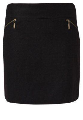 Sort nederdel der går til lidt over knæene. i stil med denne Anna Field A-snit nederdel/ A-formede nederdele - sort - Zalando.dk