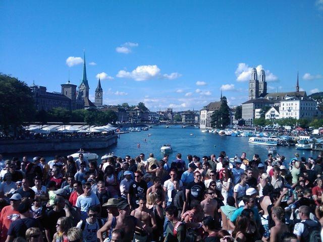 Streetparade Zurich. The crowd.