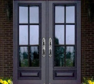 double glass entry doors