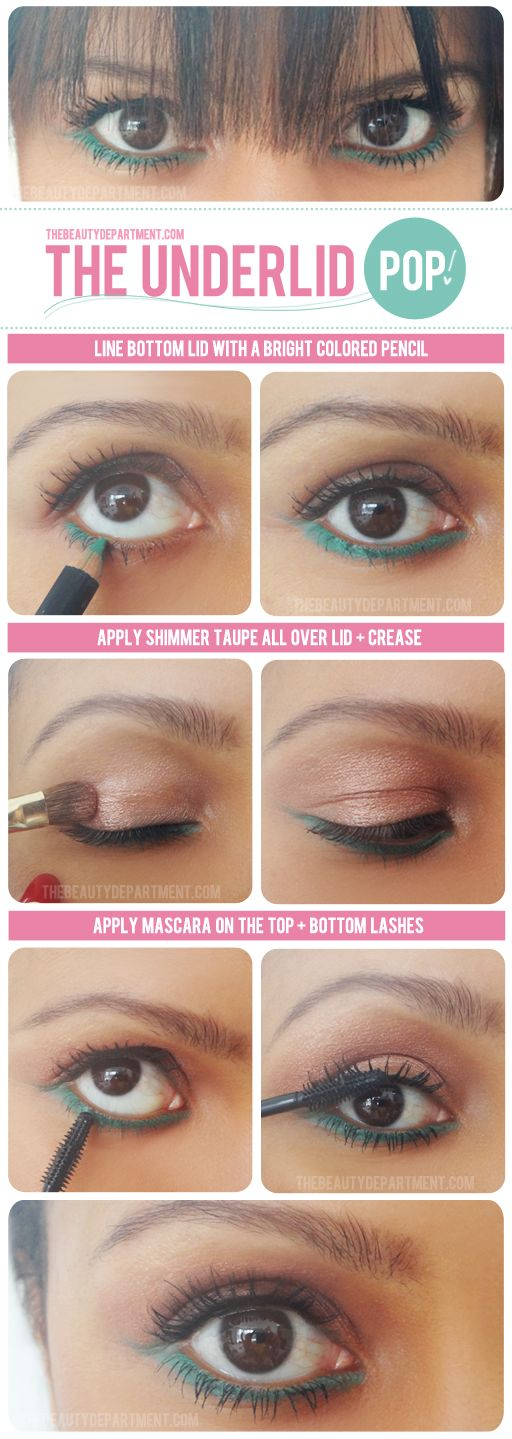 The underlid pop! line your inner eyes with a bright colored pencil