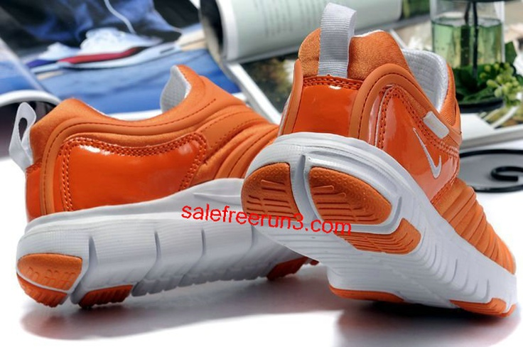 orange nike free /nike shoes -$49