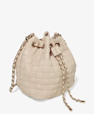 Quilted Bucket Bag | FOREVER21 #Leather #Chain #HandBag #Accessories