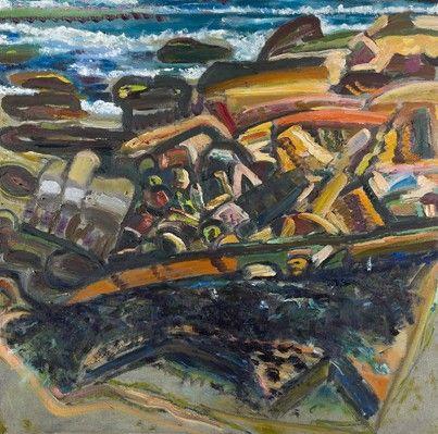 Bernard Chaet,  Rocky Shore, 2006, oil on canvas, 32 x 32 inchesOil On Canvas